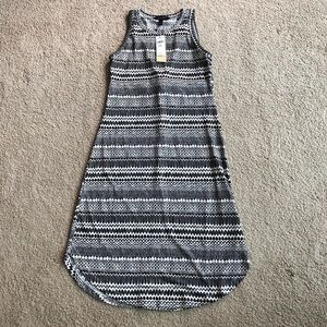 Banana Republic black and white tribal midi dress